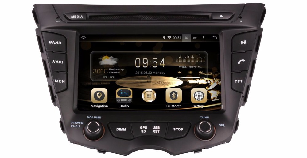 Android 7 1 1 Two Din 7 Inch Car DVD Player For HYUNDAI Veloster 2011 2016