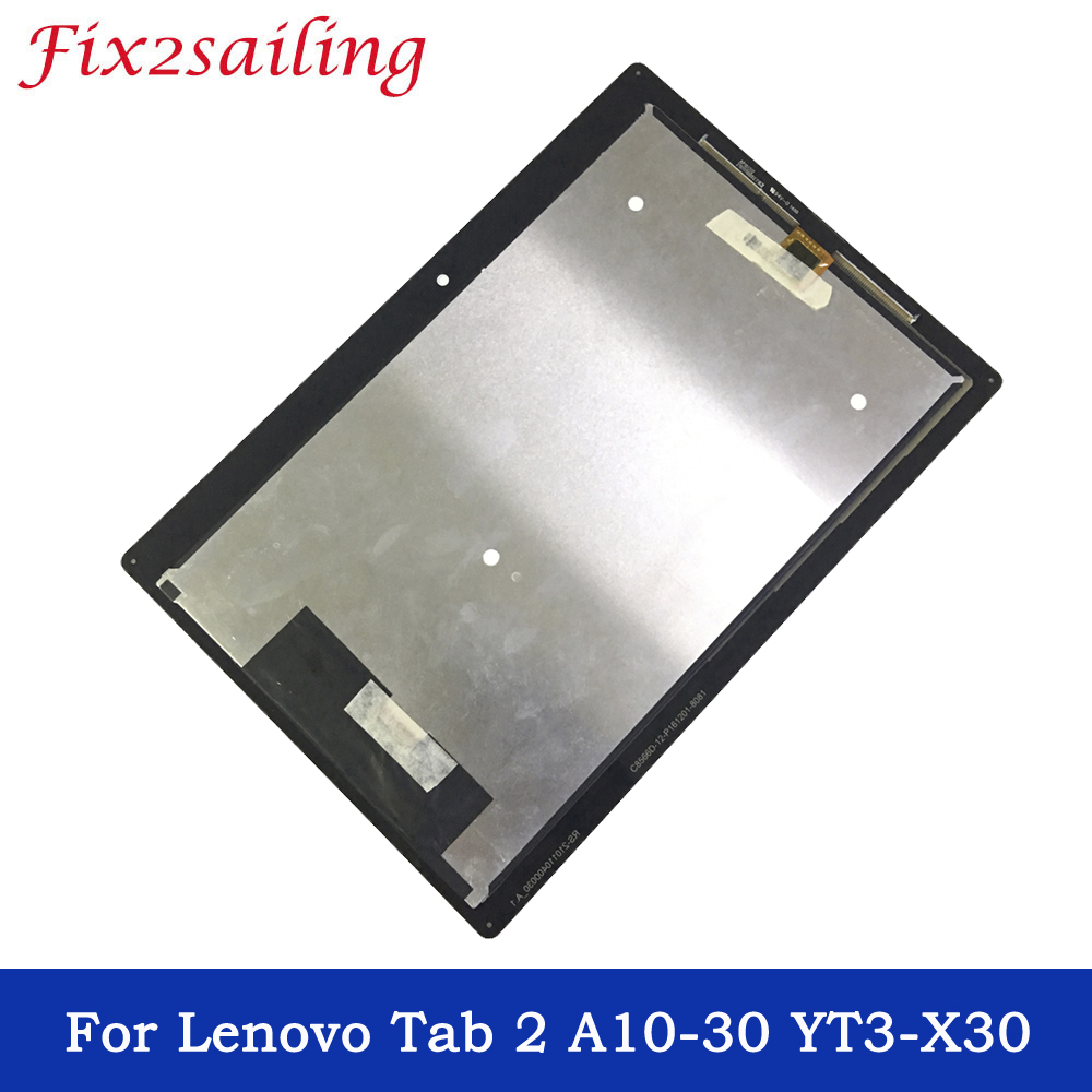 Tablet Accessories Computer & Office Contemplative 10.1 Inch Tablet Lcds For Lenovo Tab 2 A10-30 Yt3-x30 X30f Tb2-x30f Tb2-x30l A6500 Lcd Display Touch Screen Digitizer Assembly Clear And Distinctive