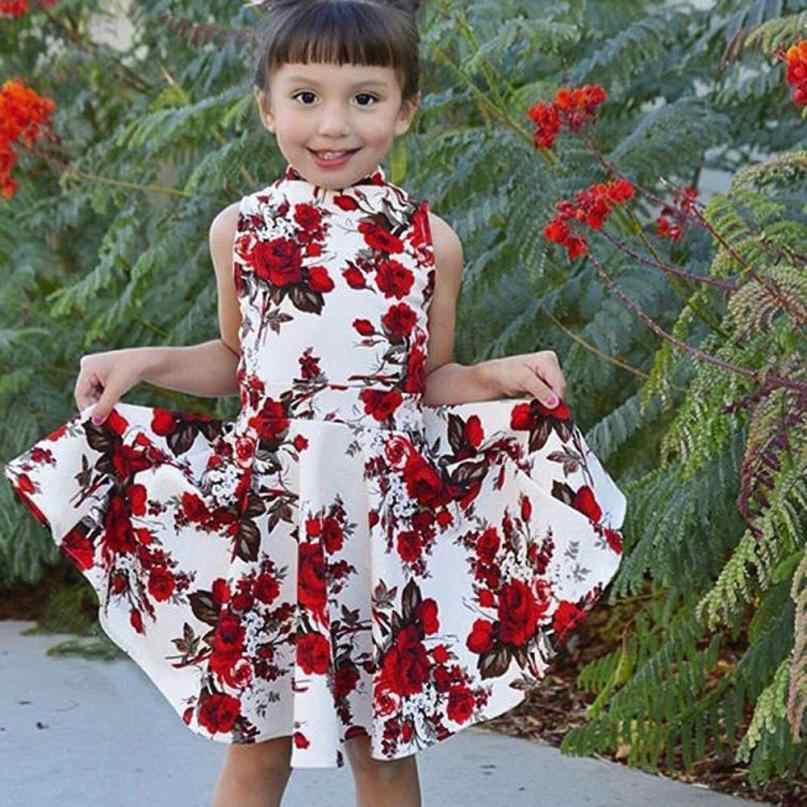 ac2c4676717cf 2018 summer dress Match Mother daughter dresses Fashion Floral Print Short  sleeve mommy and me clothes Family matching outfits