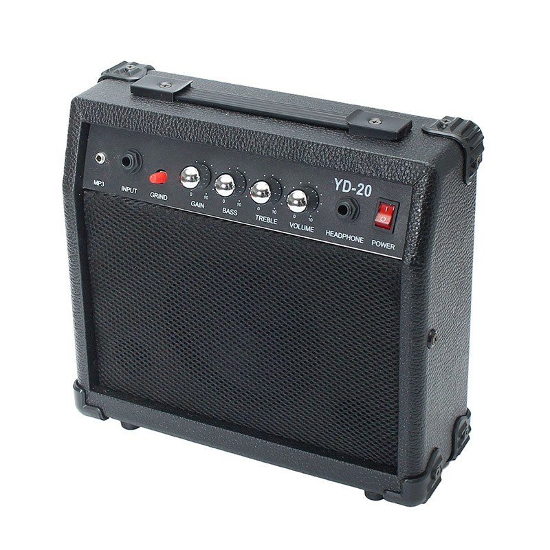 ФОТО New 20W Mini Electric Guitar Amplifier Speaker Micro Speaker With Portable Handle For Guitar Learners AC 220-240V