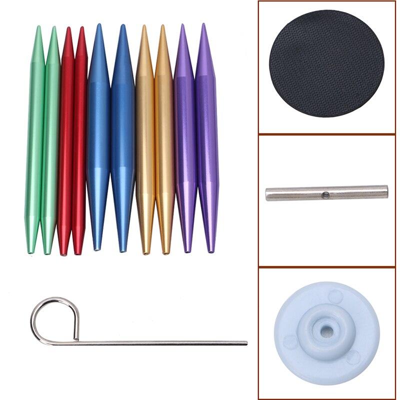 13Pcs/Set Aluminum Interchangeable Circular Knitting Needle Ring Set Kit Woven Tools Sewing Tools Pins Sets