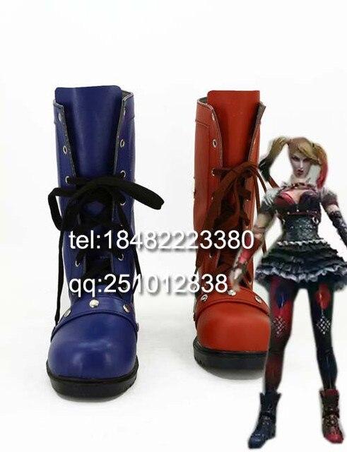 Batman Arkham Knight Anime Zapatos Harley Quinn Cosplay Botas de Comando Suicida