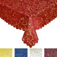 All Size Jacquard Tablecloth Tableclothes Elegant Wedding Party Hotel Decorations