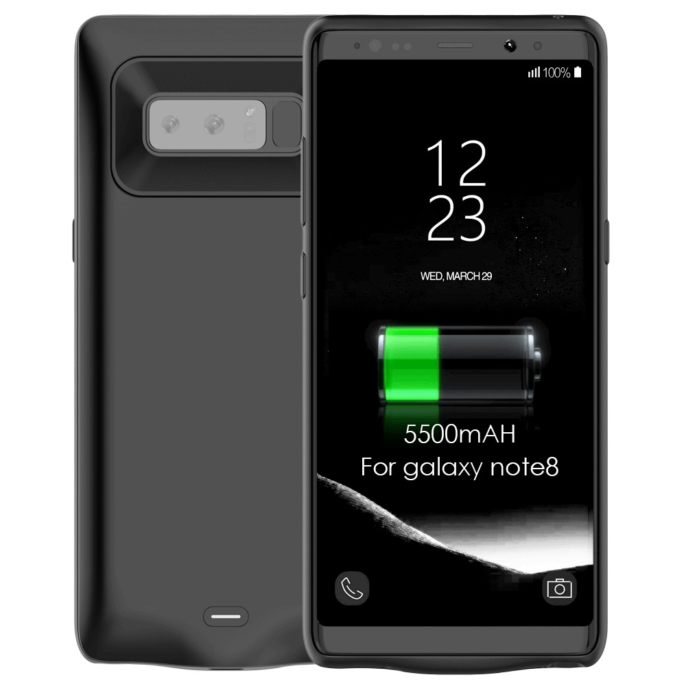5500mAh Battery Charging Case for Samsung Galaxy Note 8 Portable Power Bank Charger Case Cover for Note 8 Wireless Battery Case