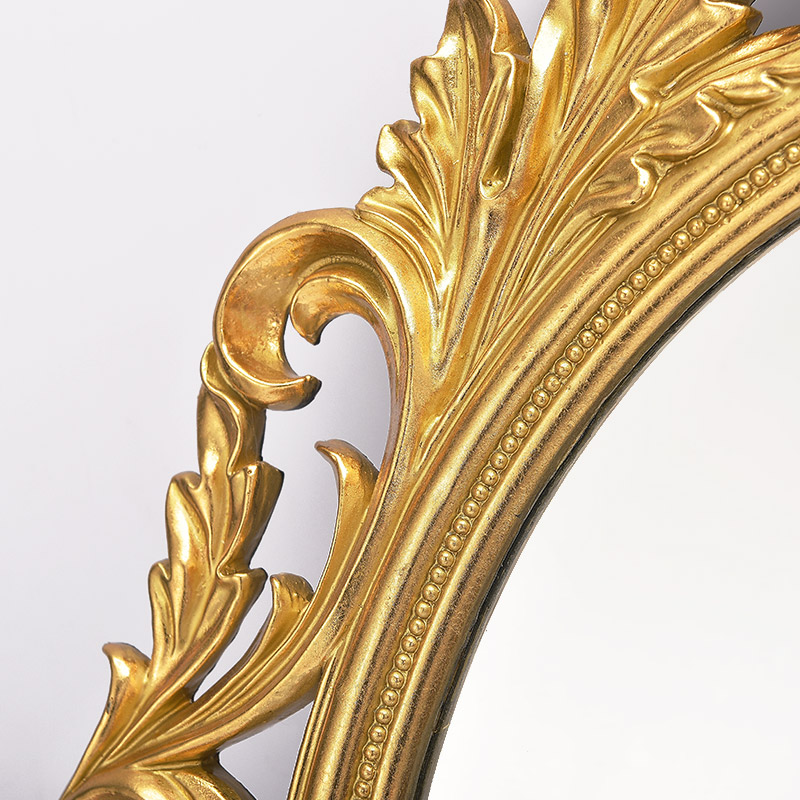 European mirror body three dimensional carved wall hanging bathroom ...