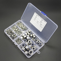 165pcs Stainless Steel Nylon Insert Locknut Assortment Kit Set M3 M4 M5 M6 M8 M10 M12