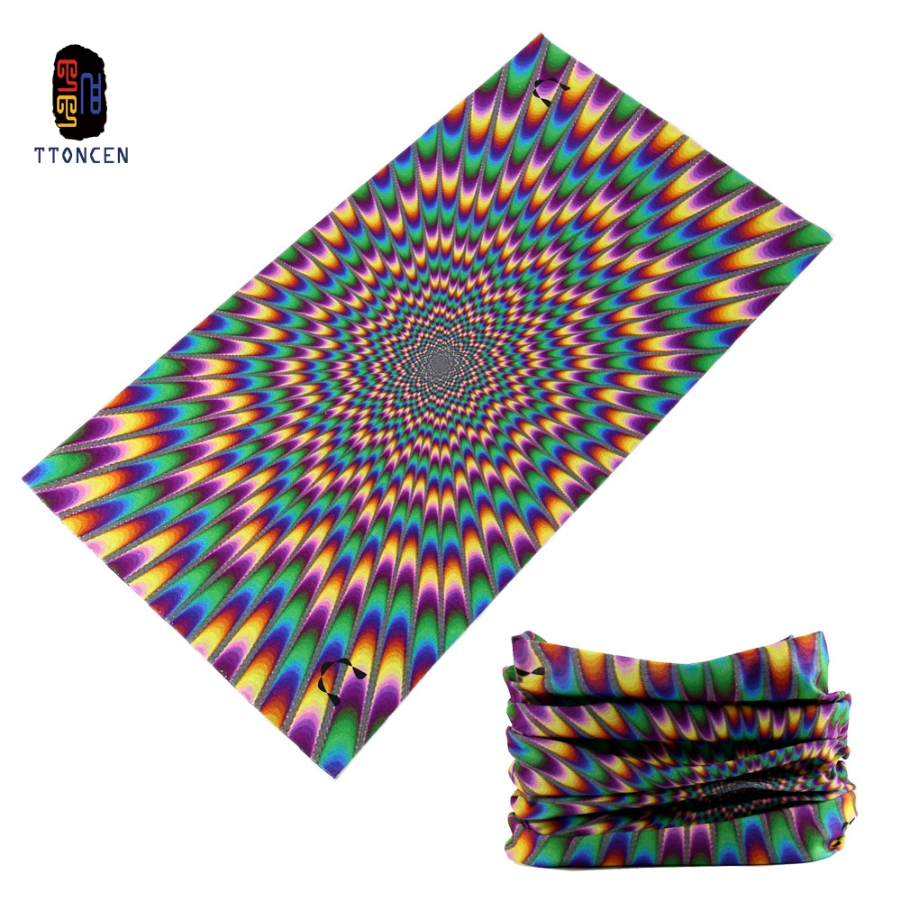 TTONCEN Paisley Gradient Tube Bandana Elastic Microfiber Magic Fashion Wholesale Neck Radiation Seamless Cool Skul Headband