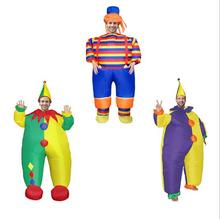 New Holiday Carnival Costume men Clown Inflatable Costume Funny Party Dress Clown Cosplay Halloween Costume Women цена
