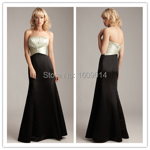 FREE SHIPPING BD-010 Fashion two tone black and champagne bridesmaid dress  two color 220e70868b5e