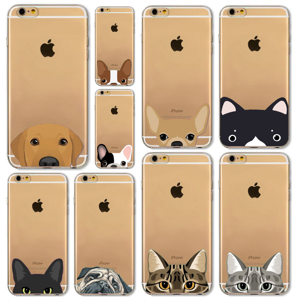 newest 96cef 27b2e Newest Super Cute Phone Cases For iPhone 6 6s Plus 6Plus 4 4s 5 5s SE 5c  Case Fashion Luxury Ultra Thin Funny Cat Dog Back Cover-in Fitted Cases  from ...