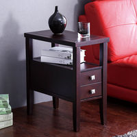 Retro Wooden Pillars American Style Sofa Table Side End Table For Living Room Coffee Table Desk