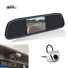 Автомобильная электроника Авто Парковочные системы Системы 4.3 цифровой TFT ЖК-дисплей зеркало Автостоянка Мониторы + 170 градусов вид сзади автомобиля Камера