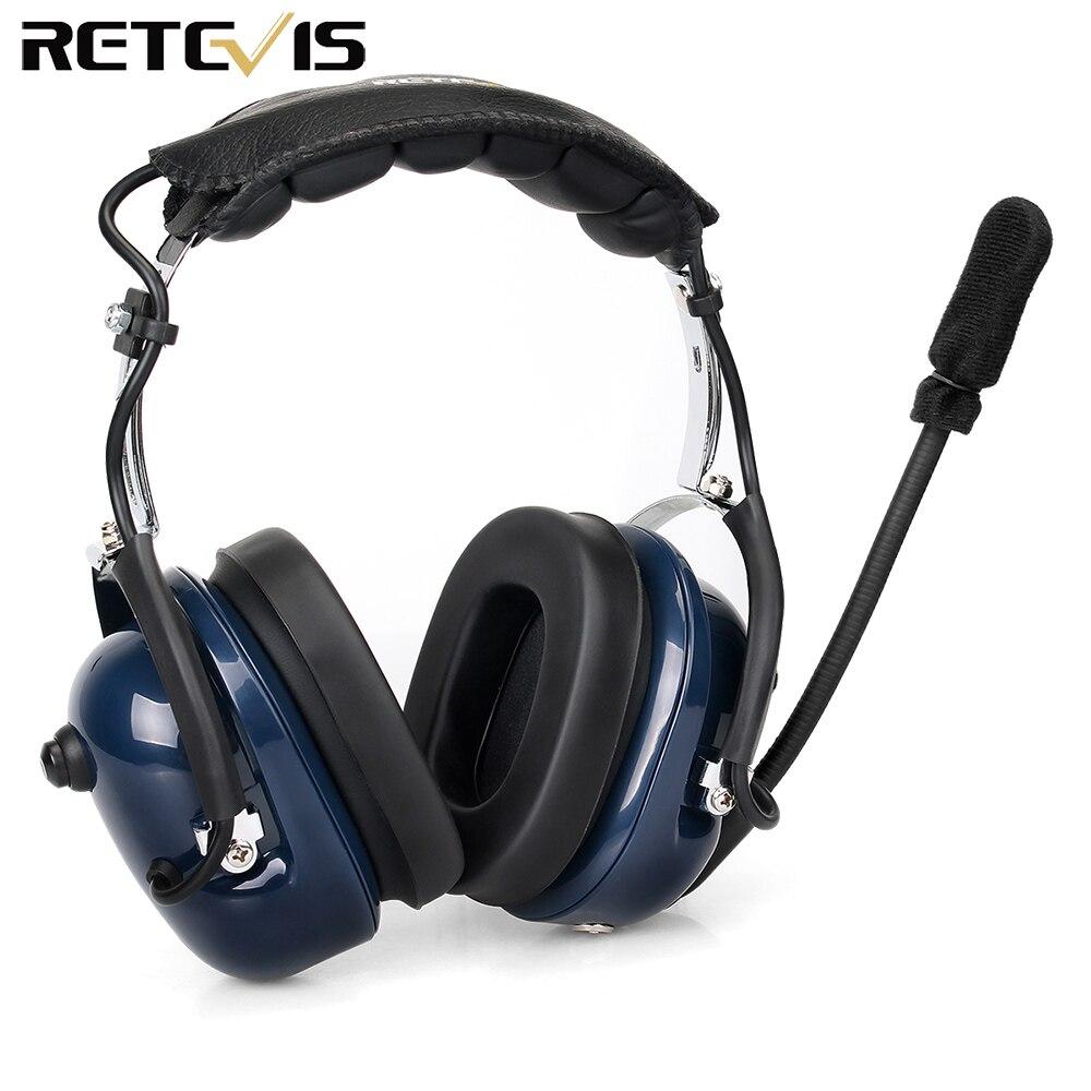 EH050K Noise Reduction Aviation MIC Headset VOX Volume Adjustment Speaker with Finger PTT for Kenwood Baofeng