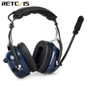 EH050K Noise Reduction Aviation MIC Headset VOX Volume Adjustment Speaker with Finger PTT for Kenwood Baofeng UV-5R Retevis H777 - DISCOUNT ITEM  25% OFF All Category