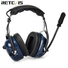 Eh050k redução de ruído aviação mic fone de ouvido vox ajuste volume alto falante com dedo ptt para kenwood baofeng UV 5R retevis h777