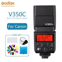 Godox V350 V350C Speedlite flash lithium battery TTL HSS 1/8000s 2.4G Wireless  photography for Canon Camera EOS 5D 6D 60D 600D