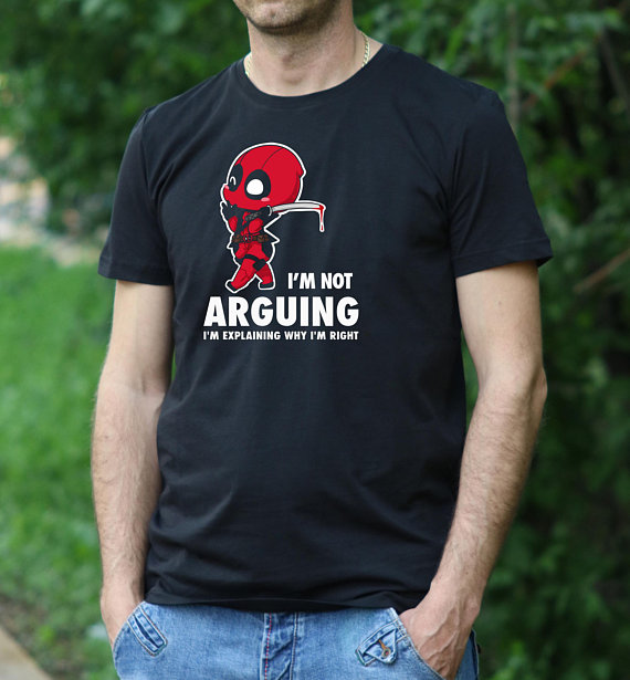4b13c66d Deadpool Shirt I'm not Arguing T Shirt mens tshirt Deadpool tshirt Movie t  shirt Gift for men Gift shirt maximum effort shirt-in T-Shirts from Men's  ...