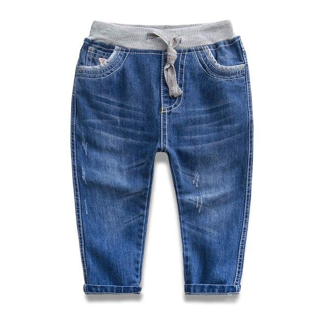 Новая мода мальчики девочки все сезоны длинные брюки для ребенка детский джинсы причинно длинные брюки для мальчиков девочек джинсы