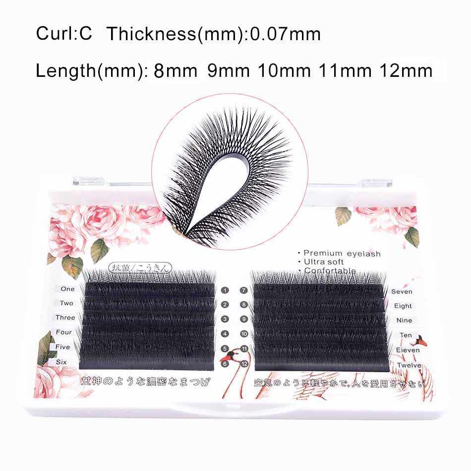 eed37caaf07 Detail Feedback Questions about Natural mink false eyelashes YY black hair  grafting love net weave section double layer single plant dense row false  ...
