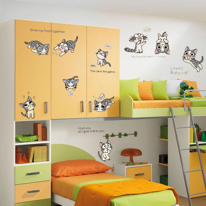 10 cats Chi\'s Sweet Home kids bedroom decorations funny cute diy ...