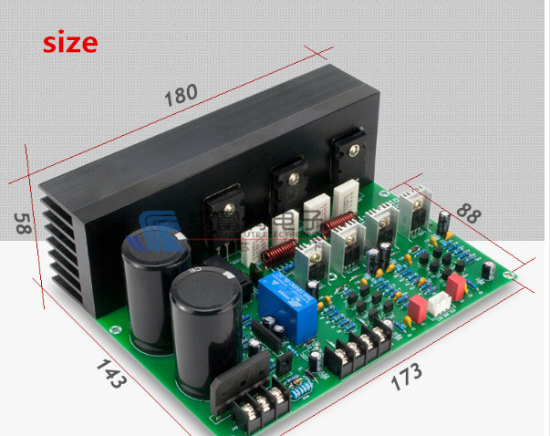 2SC5200 2SA1943 C5200 1943 AC32V 150W+150W 4R 2.0 channel HIFI DIY amplifier board with rectifier speaker protection radiator 2sa1943 2sc5200