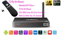 HIMEDIA H8 Pro Octa Rdzeń Android TV Box 2 GB/16 GB 3D 4 K UHD domu TV Network Media Player + T2 Fly Air Mouse Android Zdalnego Sterowania