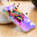 5S Reflective Blue Light Soft TPU Case for iPhone 5S SE 5 Fancy Cute Artistic Back Cover for Apple iPhone 5S 5 Cartoon Silicone
