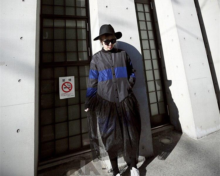 Automne Maille Outwear Longue Streetwear Mode Patchwork Rayé Whitney Femmes Ww 2275 Veste Wang 2018 Manteau Noir AqxTR