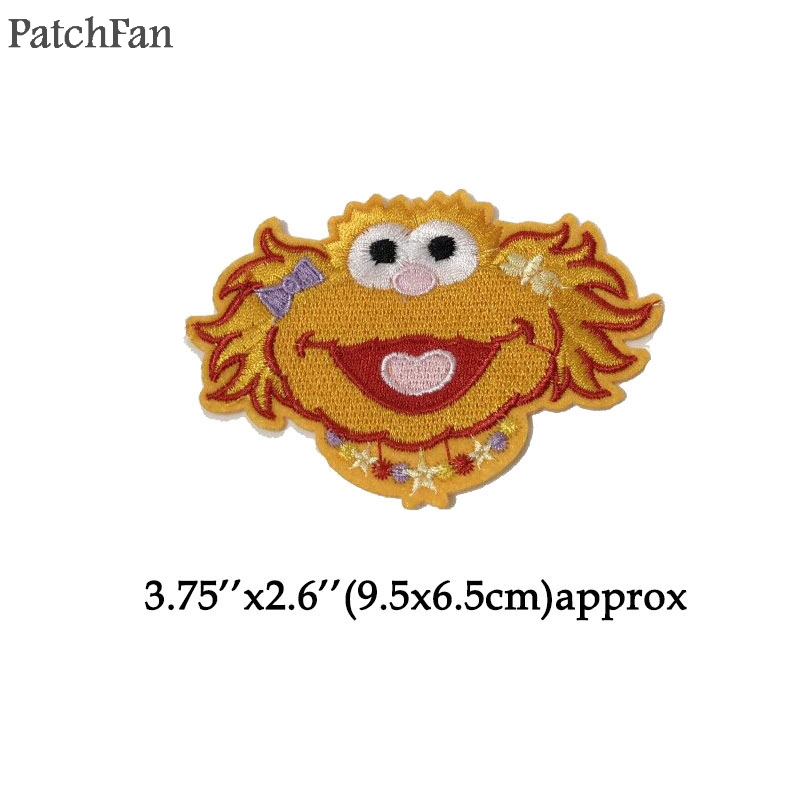 US $16 99 |20pcs/lot Patchfan Sesame Street Applique patches stickers pour  sewing shirt bag para jacket clothes badge iron on t shirt A1224-in Patches