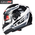 Free Shipping Double lens  motorcycle helmet latest locomotive running full face helmet LS2 FF320