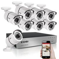 ZOSI 8CH CCTV System 1080P HDMI TVI 8CH DVR 8PCS 2 0 MP IR Outdoor Security