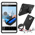 Heavy Duty Anti-knock Kickstand Back Phone Case For Huawei Honor 7 Shockproof Protective Cover Hybrid Armor Soft Silicone Case