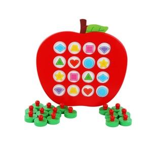 Image 5 - 子供木製の Apple メモリマッチングチェスゲーム早期教育 3D パズルファミリーカジュアルゲームパズル理想的なクリスマスギフト