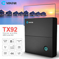 Vontar TX92 Amlogic S912 Android 7.1 TV Box Octa Core 3GB64GB 3G/32G Support MAG 250 Stalker IP TV 1000M LAN Dual Wifi