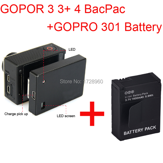 new high capacity gopro battery bacpac for gopro hd hero 4 3 3 rh aliexpress com GoPro Battery Life GoPro HD Battery