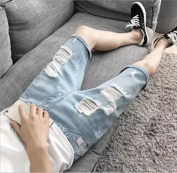 Summer Men's Denim Shorts  split pants