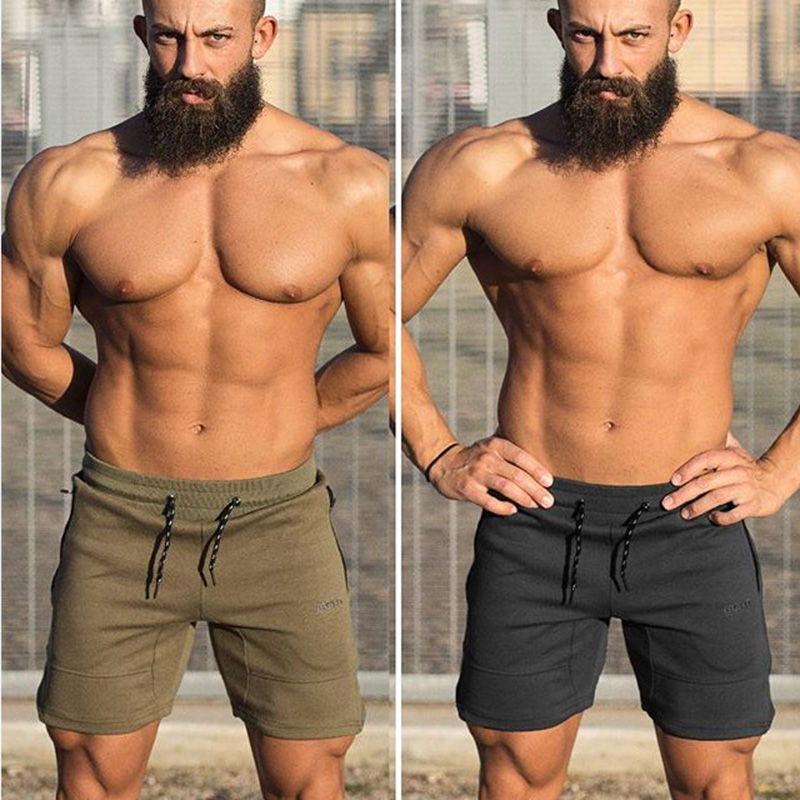 2019 Quality Men   Brand Fitness Shorts Mens Professional Bodybuilding Short Pants   Big Size