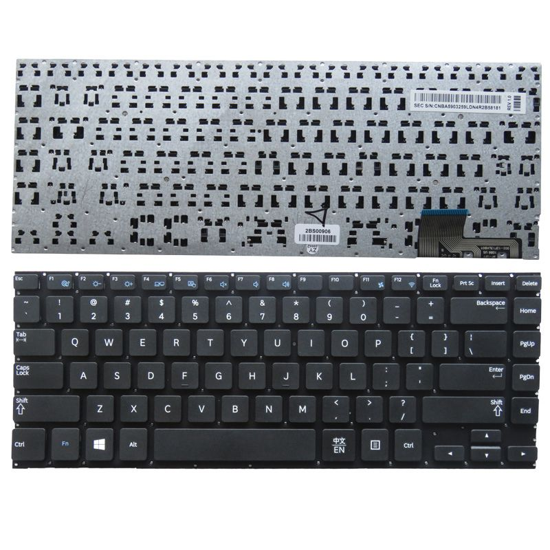 GZEELE New English US Laptop Keyboard For Samsung NP530U4B 530U4C 535U4C 520U4C 532U4C 535U4B 535U4X BLACK