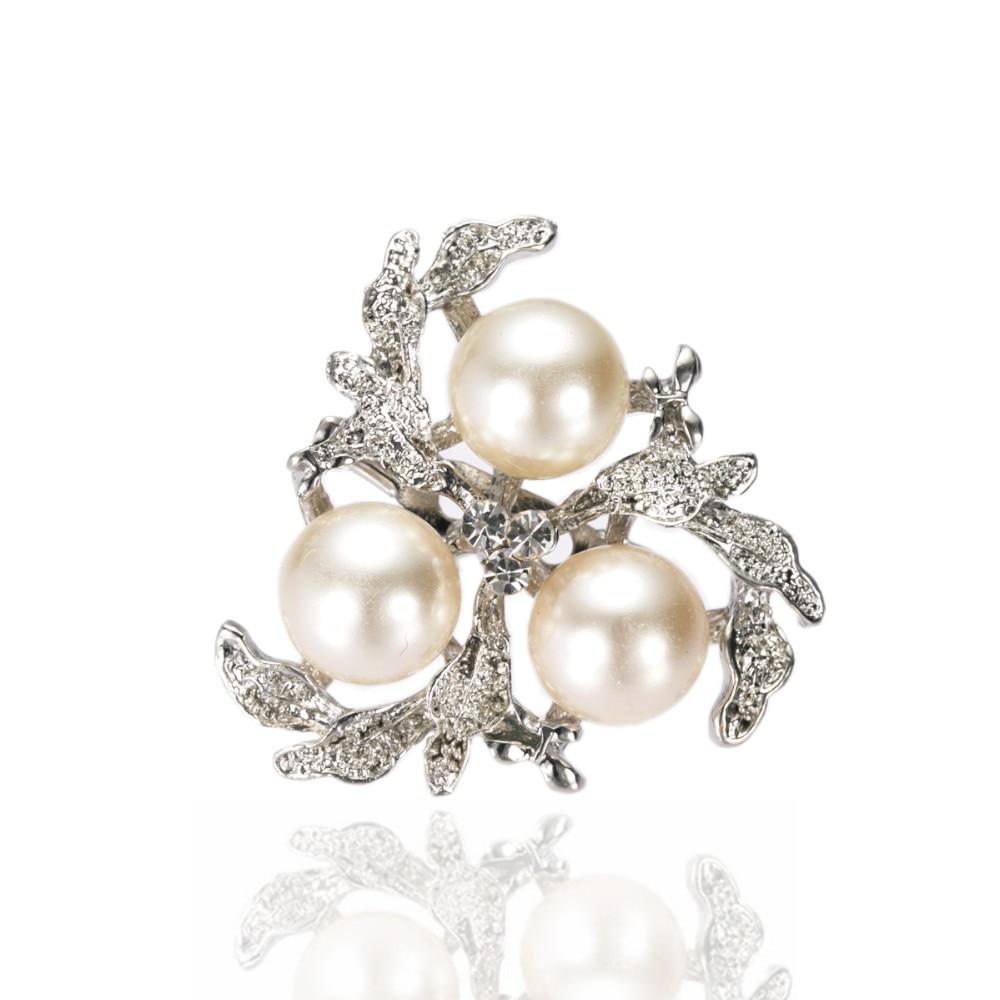 Винтажный серебряный тональный крем имитация жемчуга Хрустальный цветок со стразами брошь букет аксессуар шпильки
