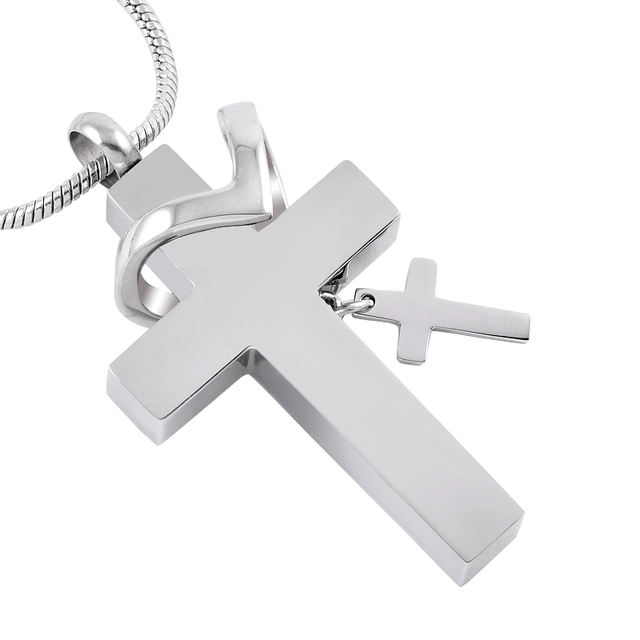 Double Cross Urn Necklace