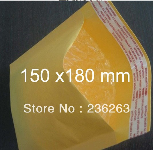 Bargin Price NOW!!! [150mm X 180mm] 50pcs Kraft Bubble Mailers Padded Envelopes Bags