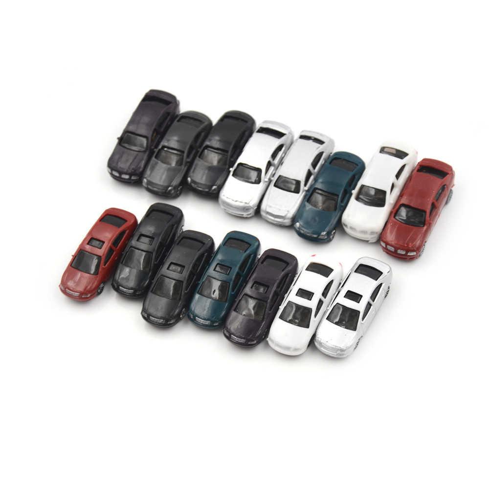 10 sztuk malowany Model samochodów budynek pociąg układ skala HO (1 do 100) CB100-3 Model zabawki do budowania zestawy Kid najlepsze dzieci