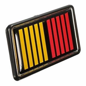 1 conjunto ralliart tarja barra grade emblema emblema vermelho amarelo preto para mitsubishi ralliart grill emblema decoração estilo