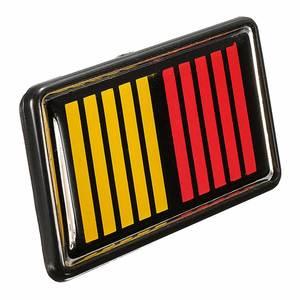 1 Set Ralliart Stripe Bar Grille Emblem Badge Red Yellow Black For Mitsubishi