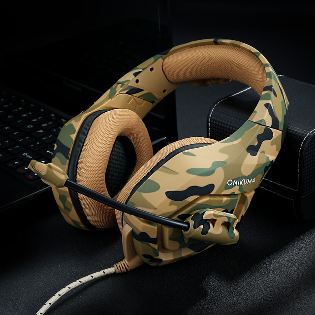 K1 Headset Bass Gaming Headphones Game Earphones Casque Camouflage PS4 with Mic 5