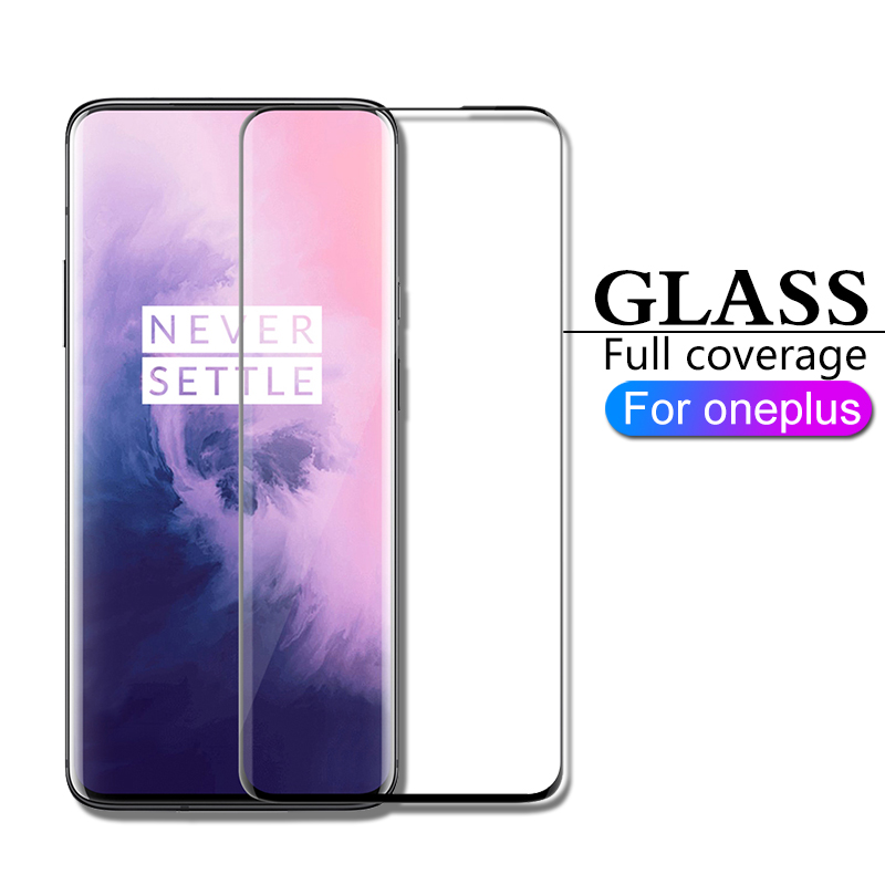 HICUTE Full Coverage Protective Glass For Oneplus 7 7 Pro 6 6T 5 5T Glass On Oneplus 7 Pro 7 6 5 Screen Protector Tempered Glass