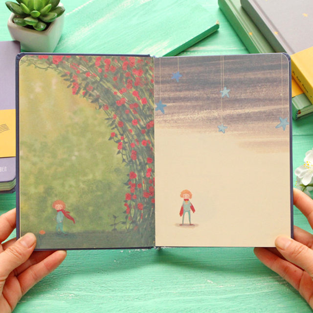 Vintage Color Page Notebook The Little Prince School Office Supply  Accessory Diary Book Notepad Retro Stationery