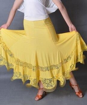 Ballroom dance modern dance lace edge dance skirt S12090 modern fishbone hem