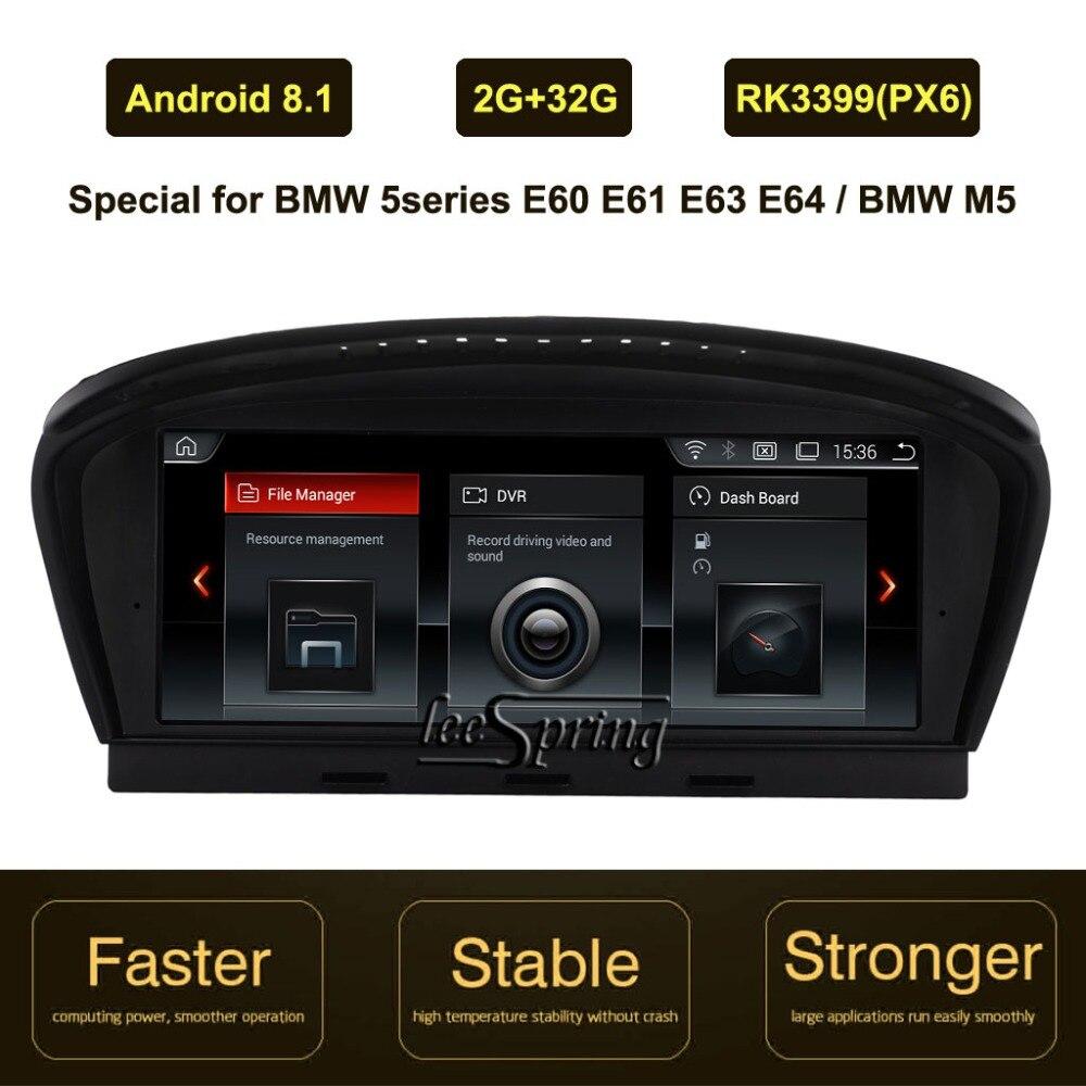 8.8 pouces IPS Écran Android 8.1 Voiture navigation gps pour BMW 5 série E60 E61 E63 E64 M5 (2005- 2010)