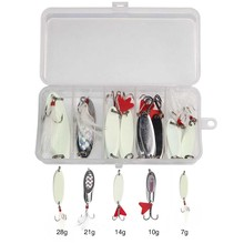 Hyaena 11pcs/field Spinners Spoon Bait	 Steel Lure With Treble Hooks 7g-40g Fishing Wobbler